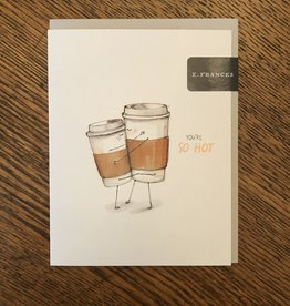 E Frances Paper Coffee Cups Card