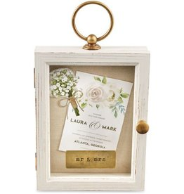 Mud Pie Wedding Distressed Shadow Box