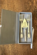 Mud Pie Tied the Knot Serving Set
