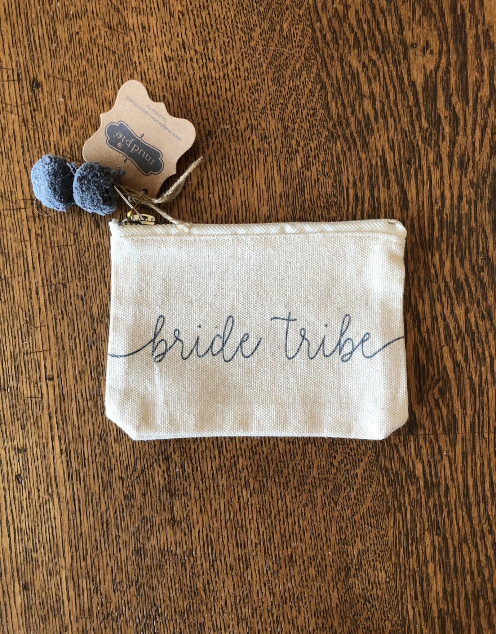 Mud Pie Bride Tribe Canvas Pouch