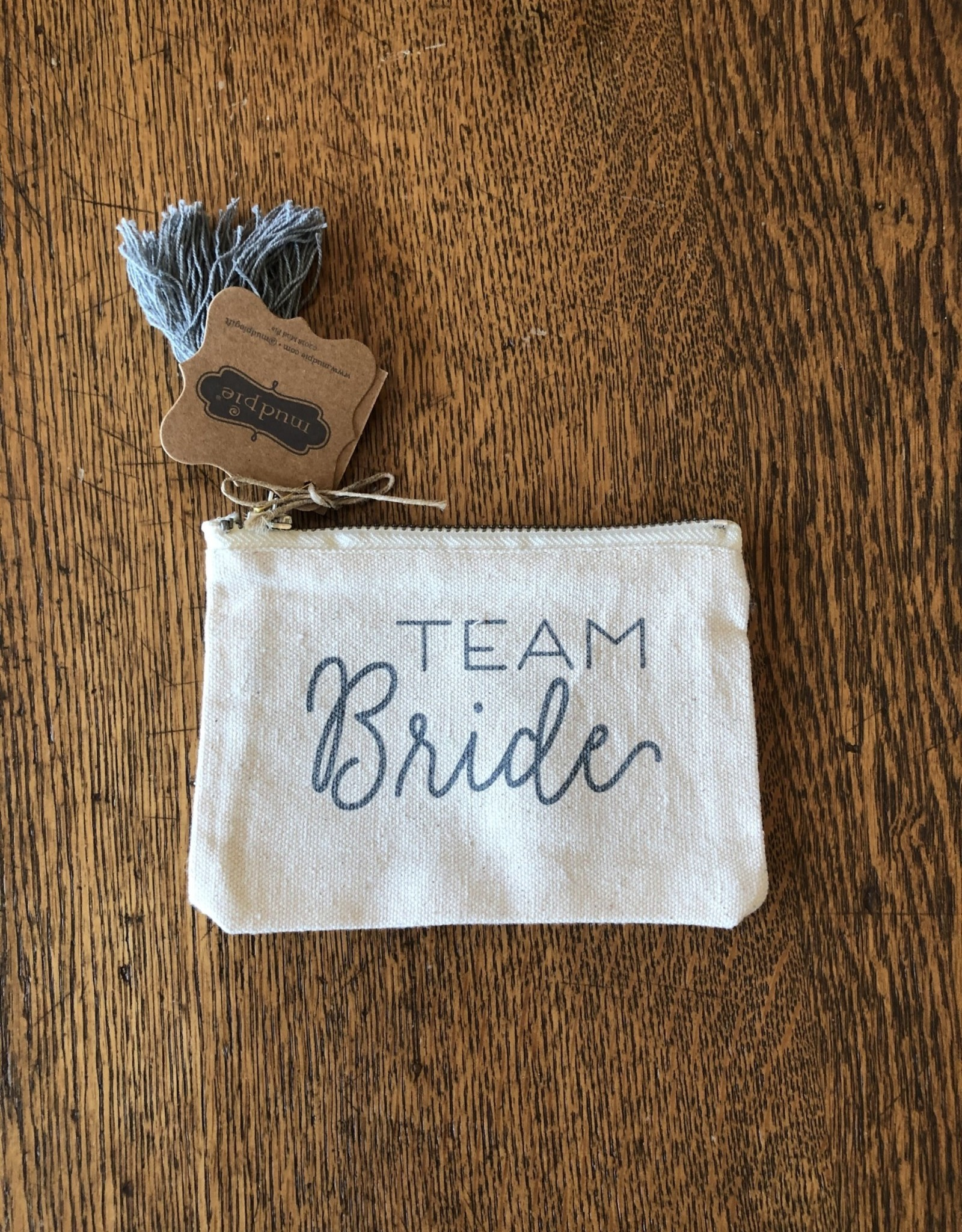 Mud Pie Team Bride Canvas Pouch