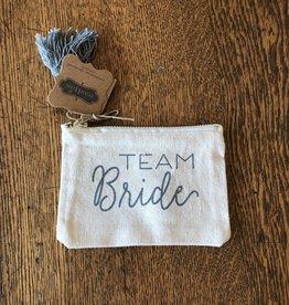 Mud Pie Team Bride Canvas Pouch
