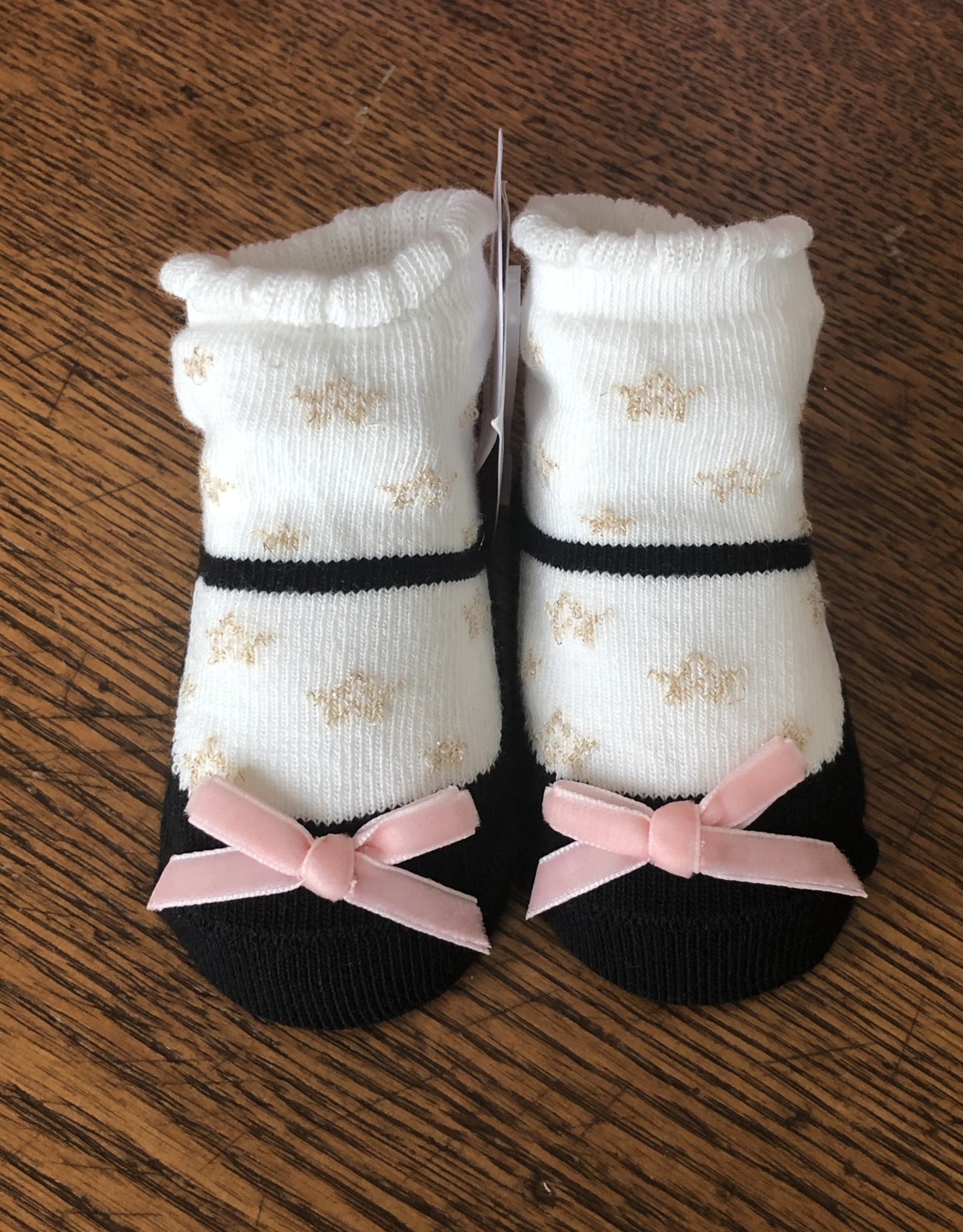 Mud Pie Black Star Sock Set