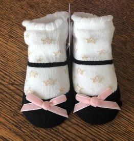 Mud Pie Black Star Sock Set