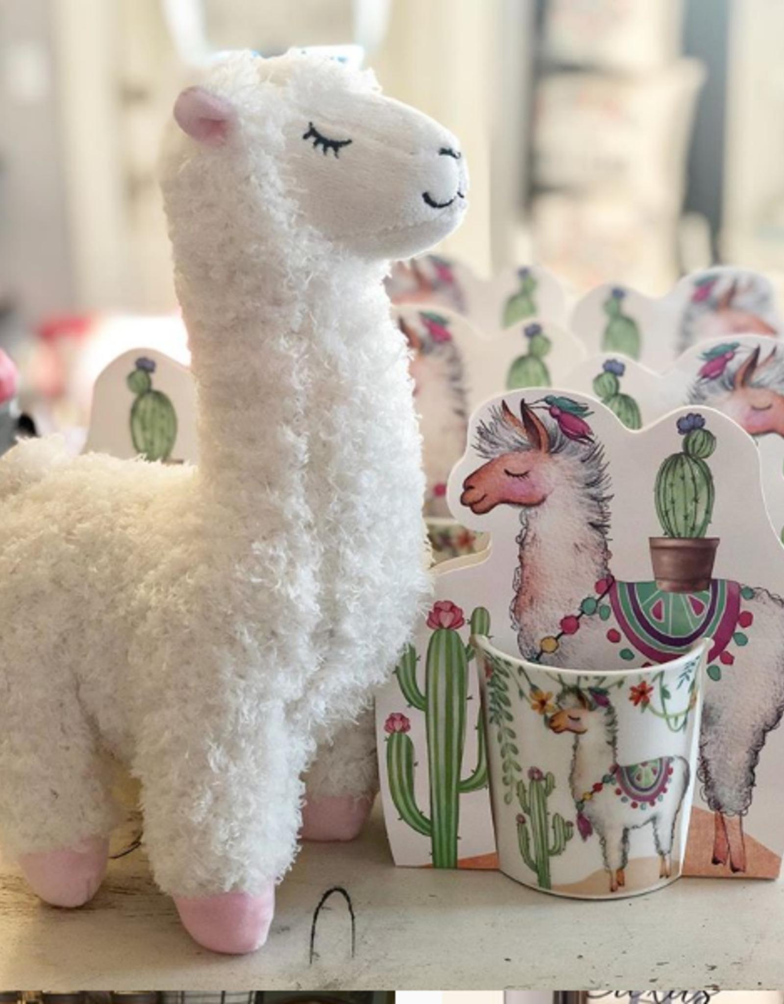 "Wink White Llama Plush 12"""