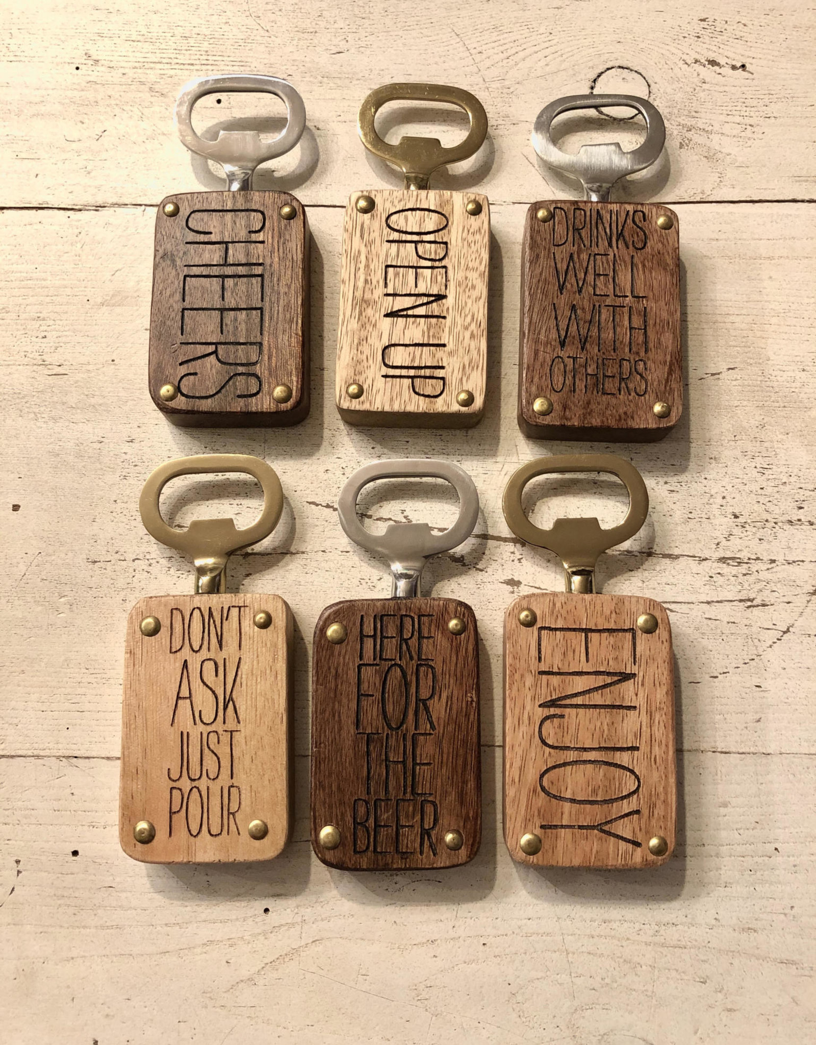 Wink Wood Bottle Opener