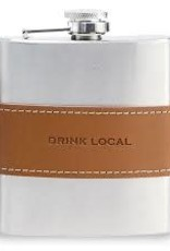 Mud Pie Drink Local Lth Band Flask