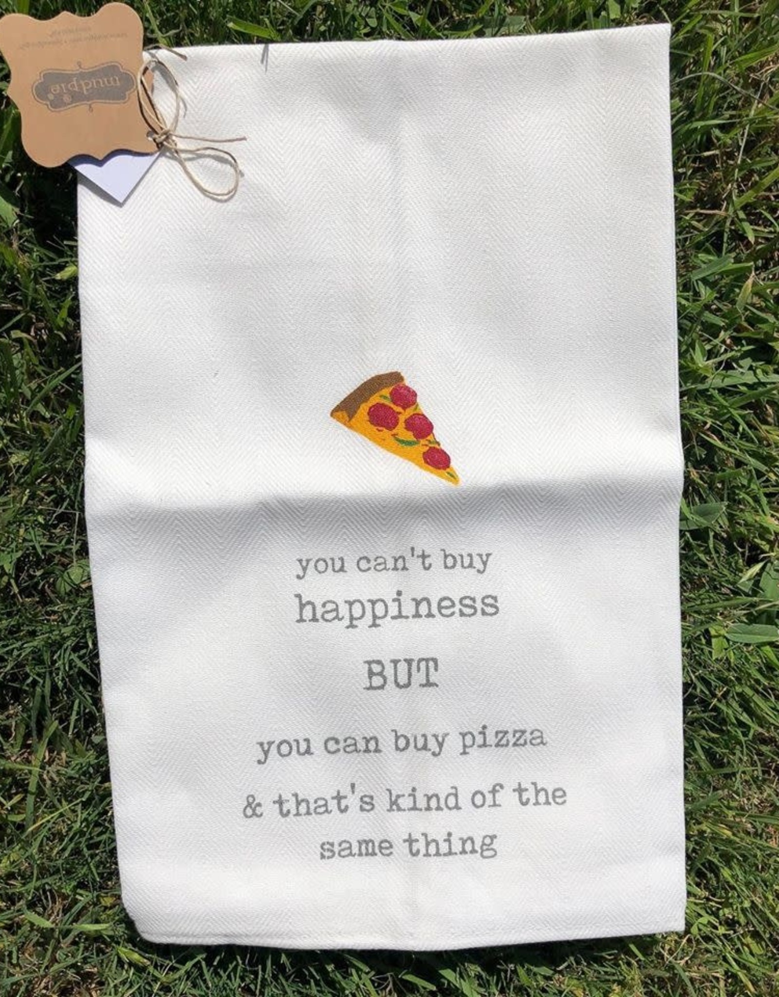 Mud Pie PIZZA FUNNY ICON TOWEL