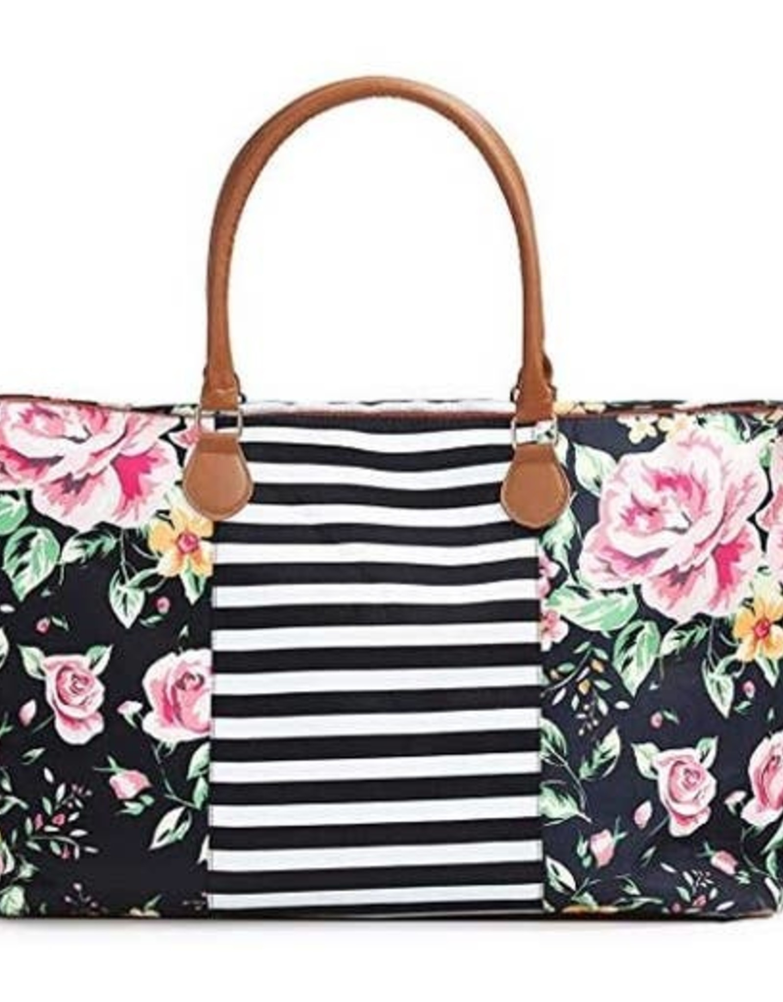 Wink Floral Striped Weekender Bag
