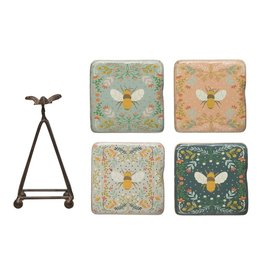 Wink Bee Coaster Set