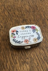 Mud Pie Choose Happiness Pill Box