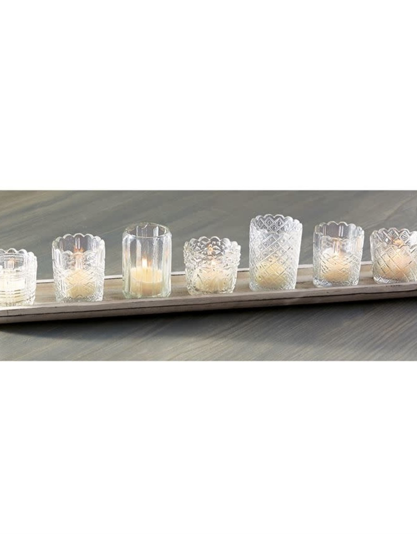 Mud Pie Mixed Glass Votive Tray