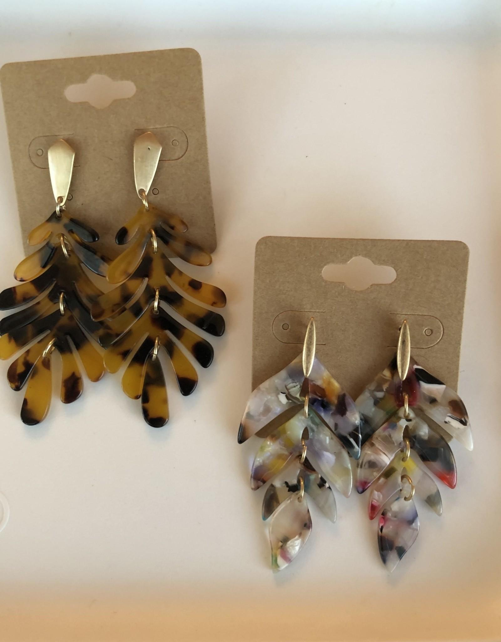 Wink Leaf Resin Earrings