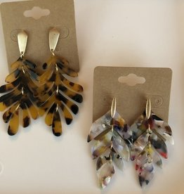 Wink Leaf Resin Earrings