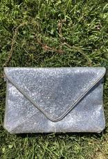 Wink Shiny Envelope Clutch