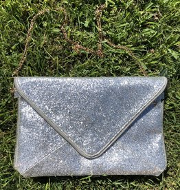 Wink Shiny Envelope Clutch