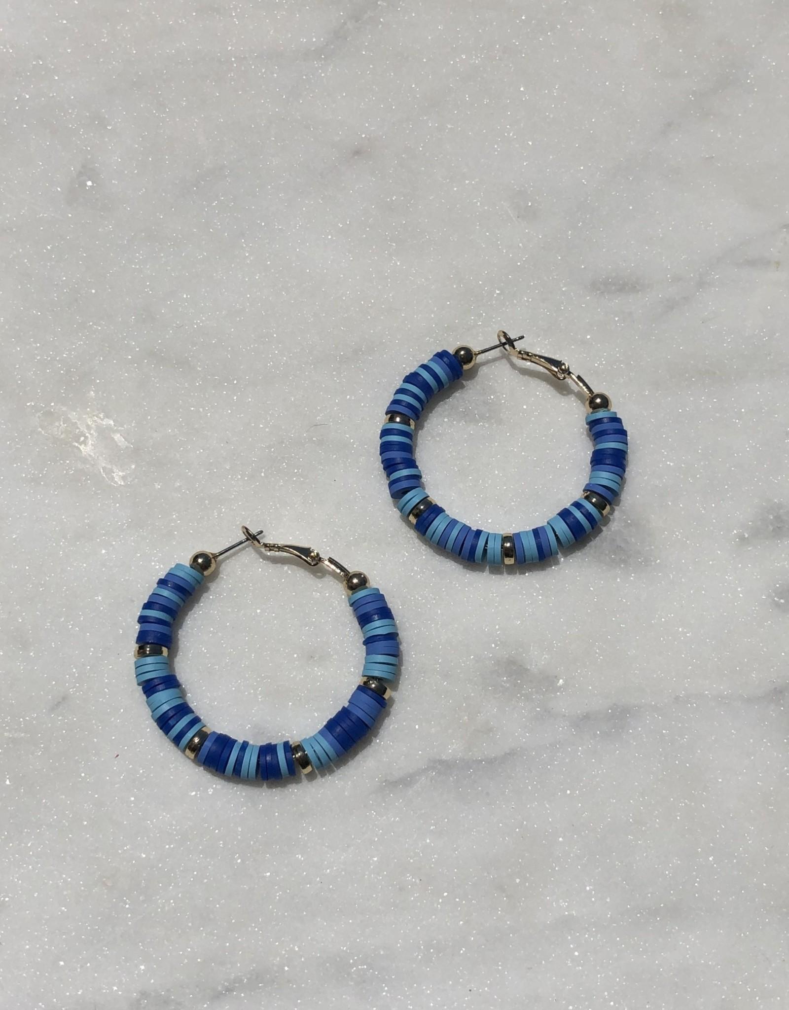 Wink Rubber Disc Hoop Earrings