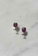 Wink Red Wine Glass Signature Enamel Studs