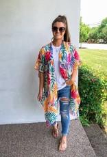 Wink Bright Tropical Palm Kimono