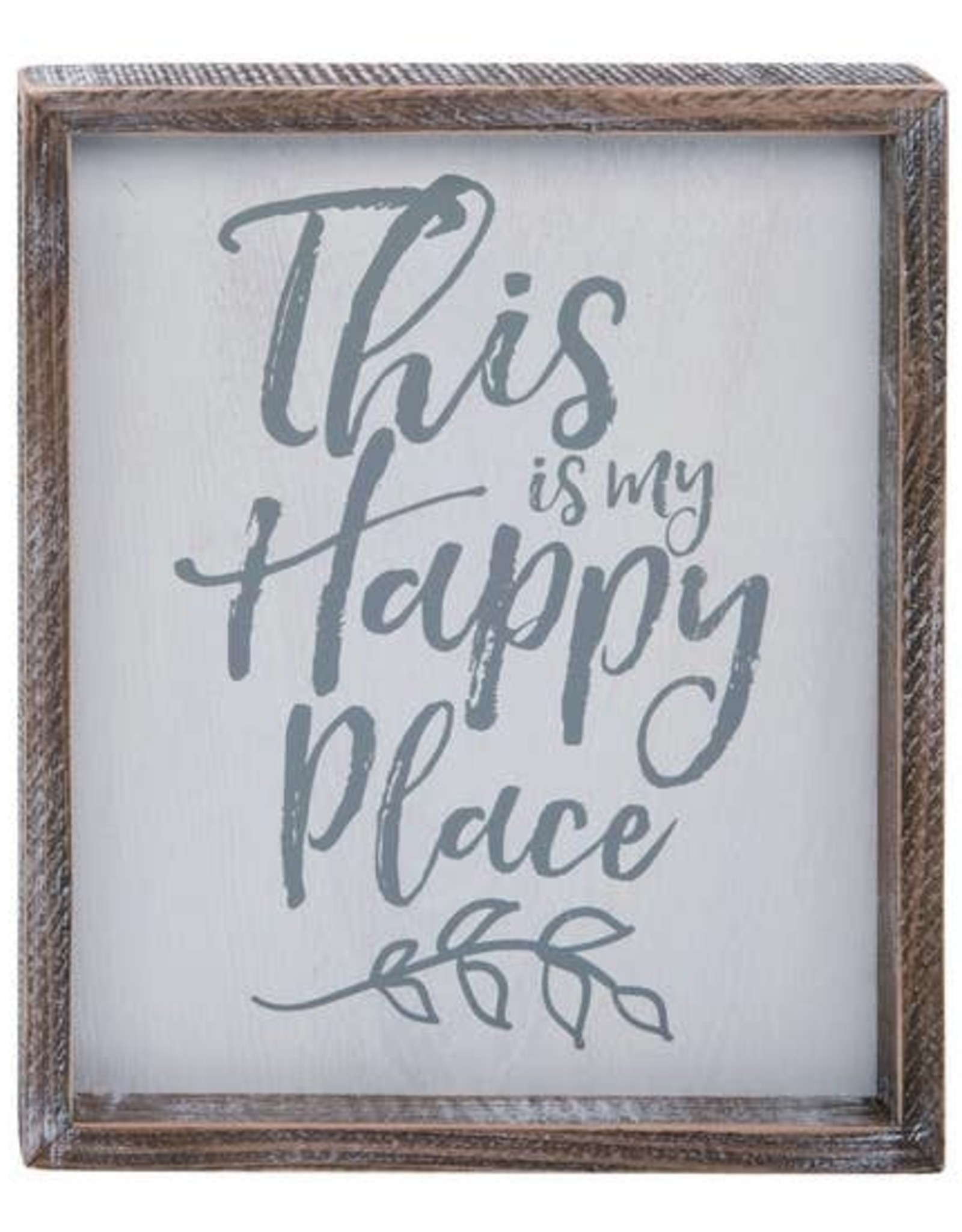 Wink Encouraging Happy Place Word Wall Art