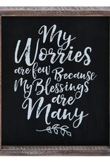 Wink Encouraging My Worries Word Wall Art