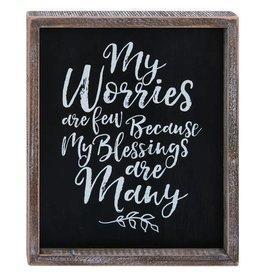 Wink Encouraging My Worries Word Wall Art