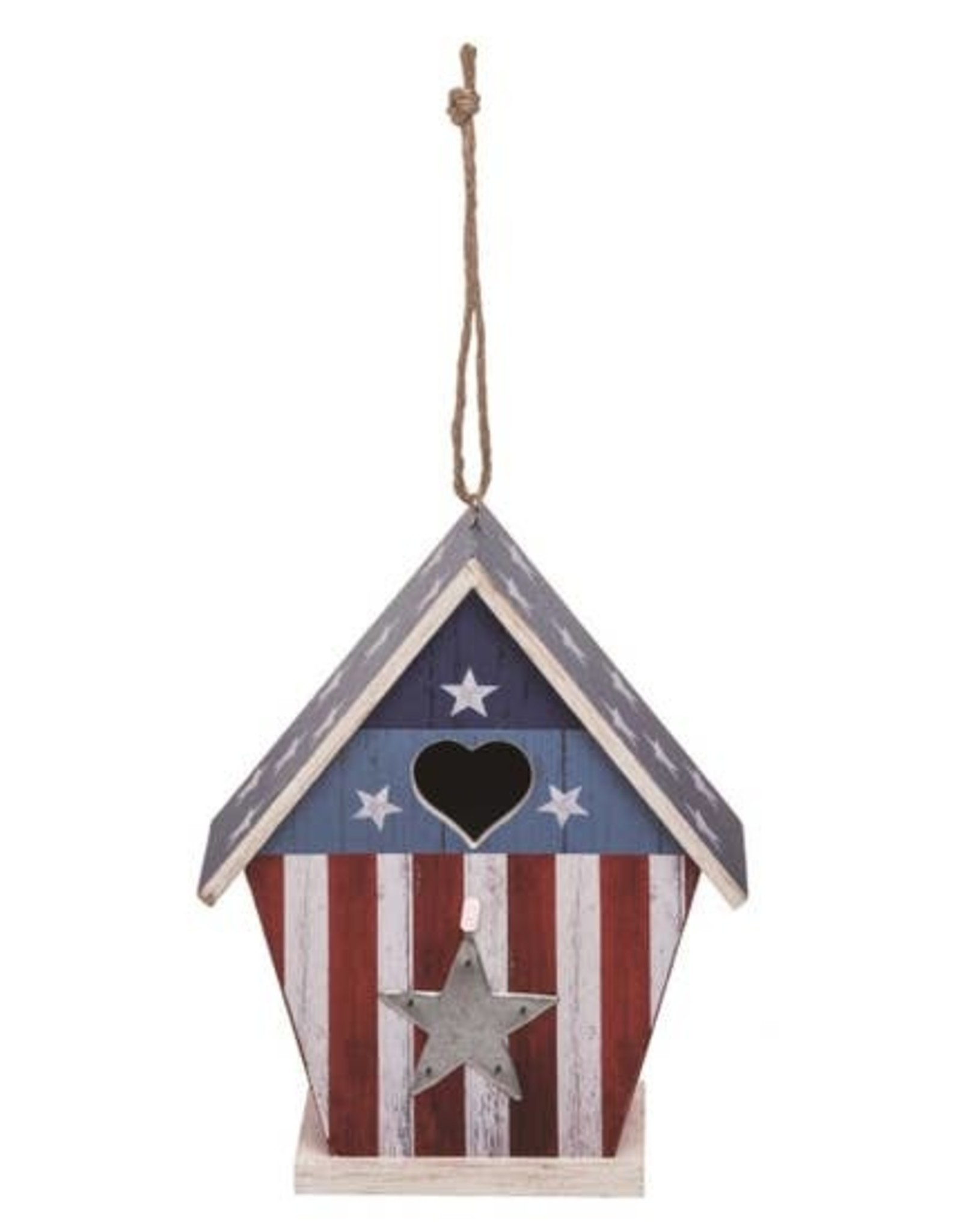 """Wink Wood 4th of July Bird House 9"""""""