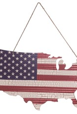 Wink 4th of July USA Flag Cutout with Hanger 28""