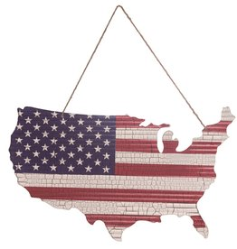 """Wink 4th of July USA Flag Cutout with Hanger 28"""""""