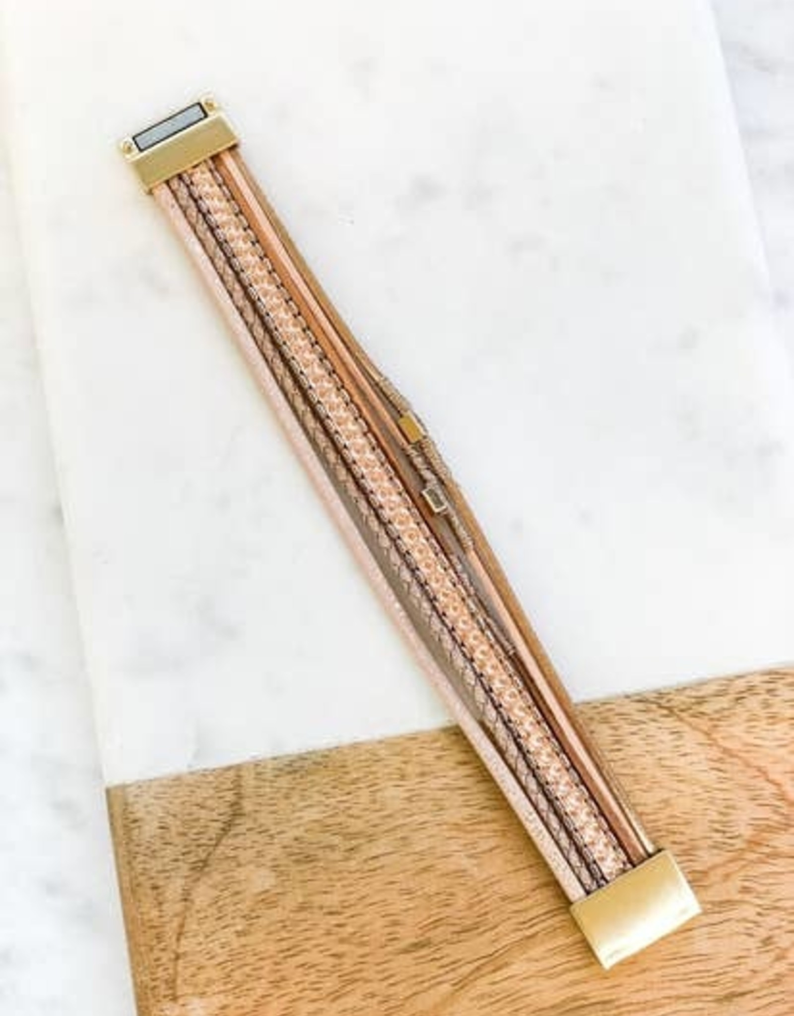 Wink Rose Gold Multi Strand Bracelet