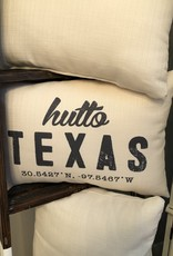 Wink Retro Hutto Texas Pillow