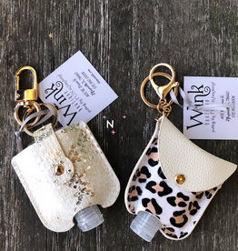 Wink Sanitizer Case - White/Gold Snakeskin