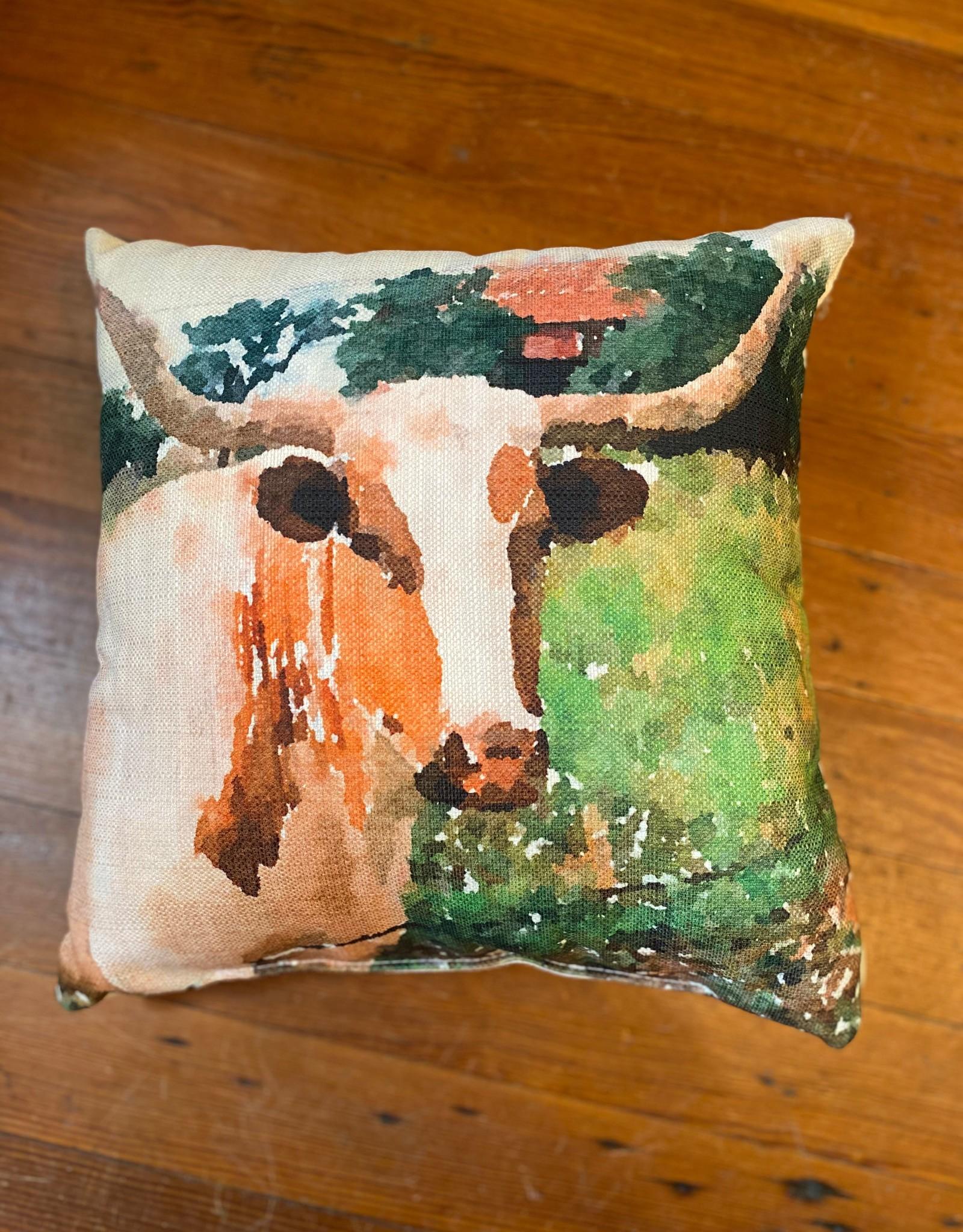 Wink Laney Longhorn Pillow