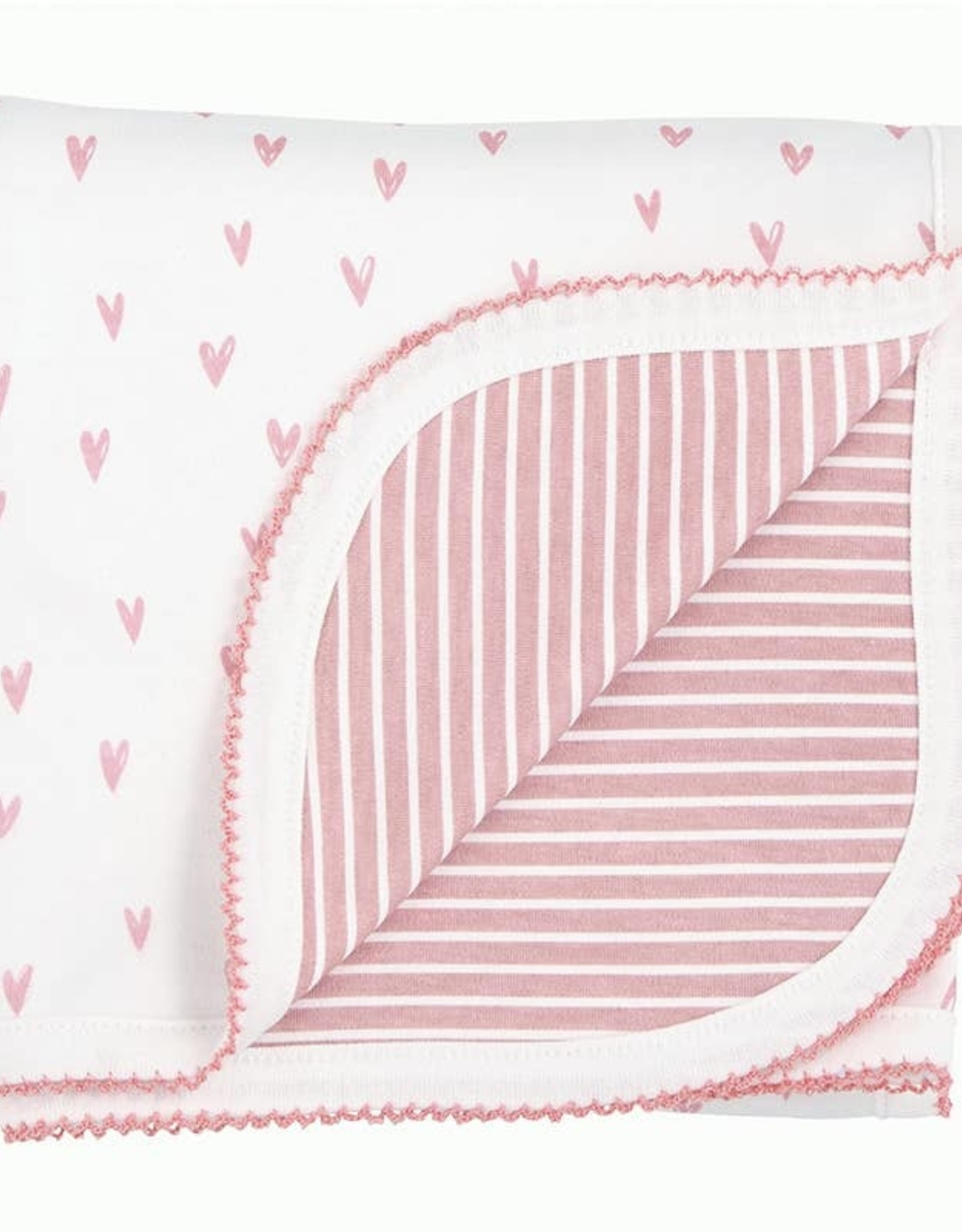 Wink Pink Hearts Blanket - Reversible