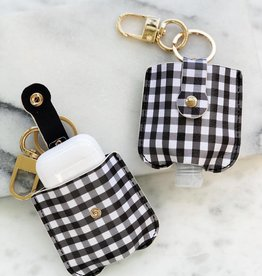 Wink Sanitizer Case - Black/White Buffalo Plaid