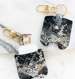 Wink Sanitizer Case - Black/Silver Snakeskin