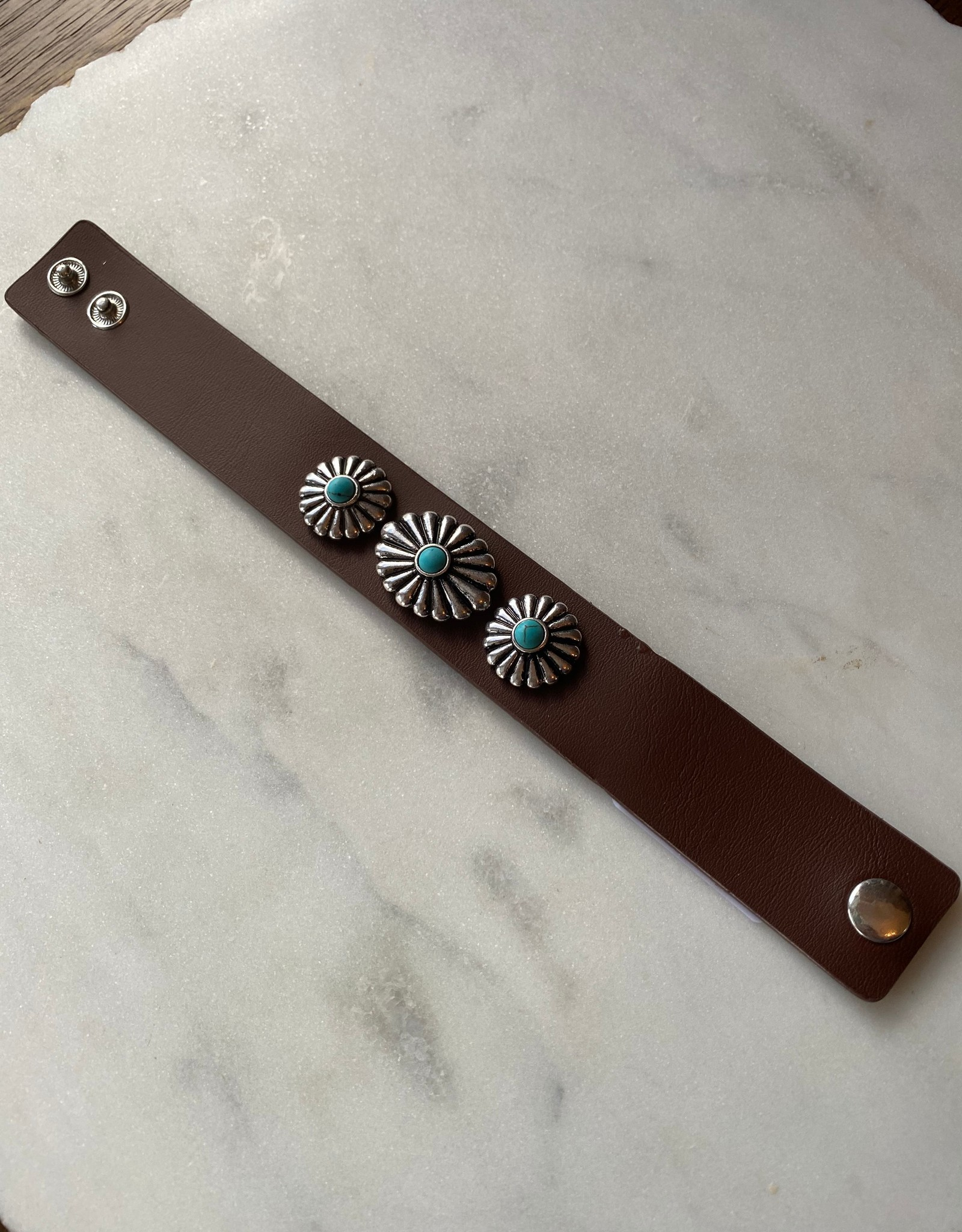 Wink Concho Wrap Turquoise Bracelet