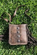 Wink Fringe Shoulder Bag - Dark Brown