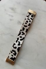 Wink Black/White Leopard Wrap Bracelet