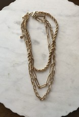 Wink Triple Gold Chain Necklace