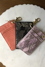 Wink Double Card Holder Keychain