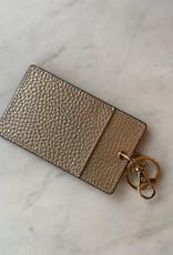 Wink Single Card Holder Keychain - Gold