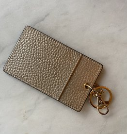 Wink Single Card Holder Keychain - Gold