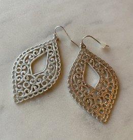 Wink Silver Filigree Teardrop Earrings
