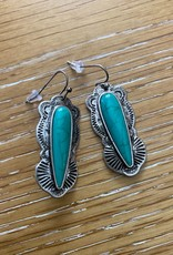 Wink Silver and Turquoise Drop Earrings
