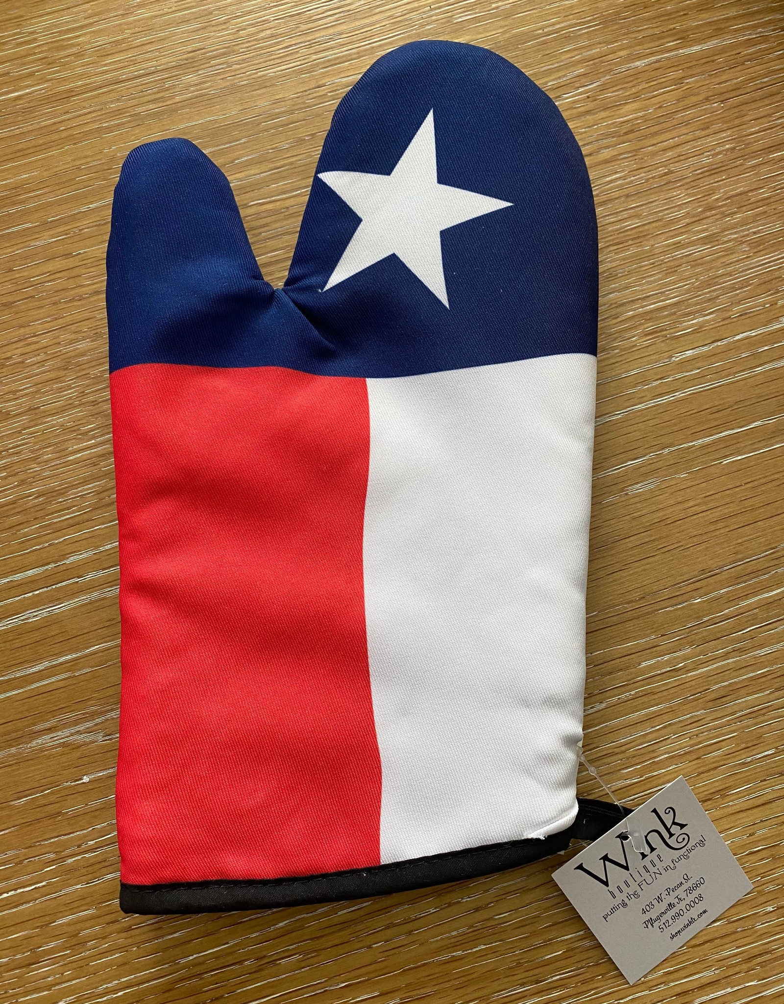 Wink Oven Mitt - Texas Flag