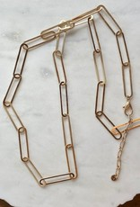Wink Chain Linked Metal Long Necklace