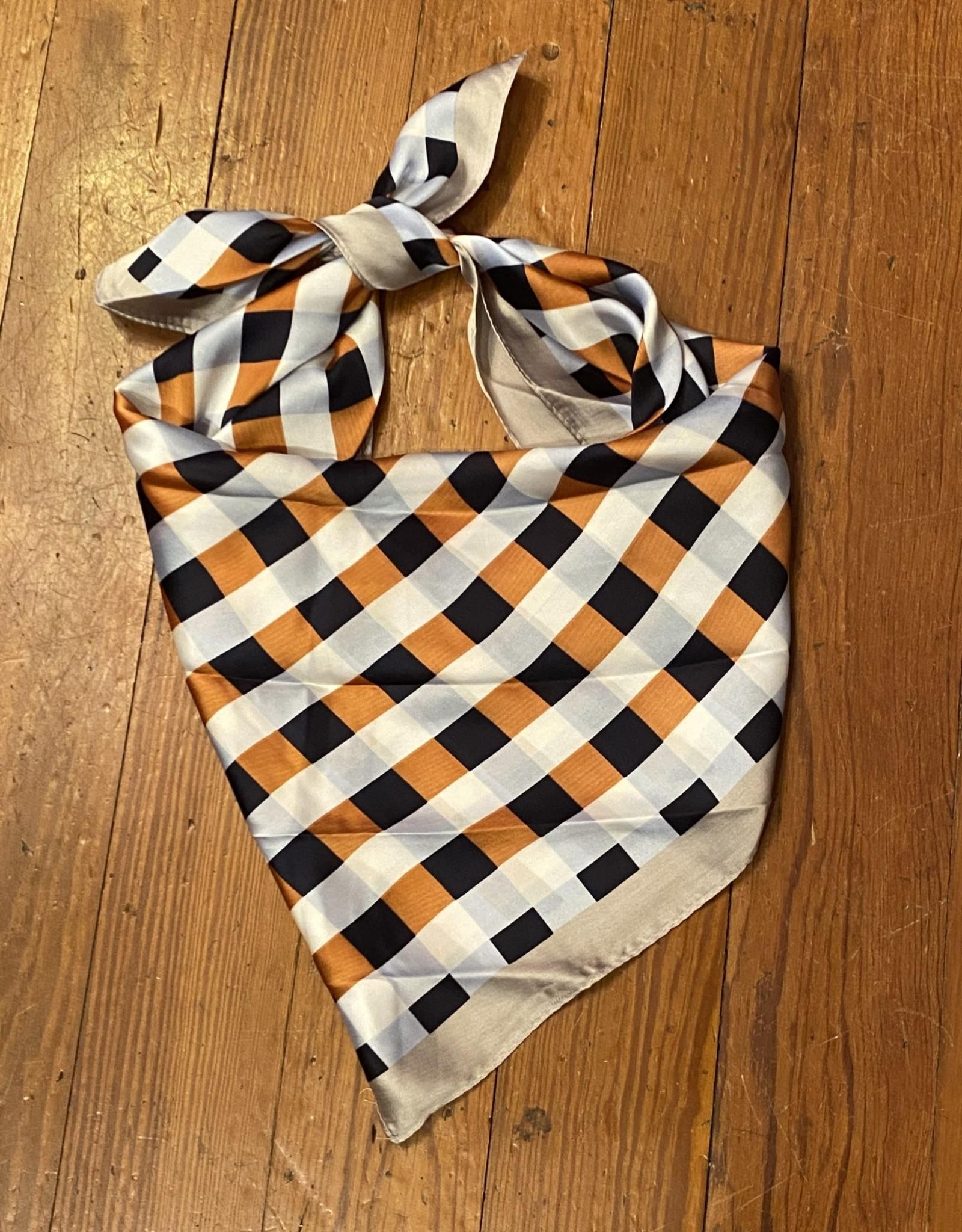 Wink Plaid Fashion Scarf - Orange