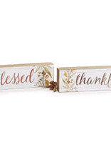 Wink Shelf Sitter Thankful/Blessed Reversible