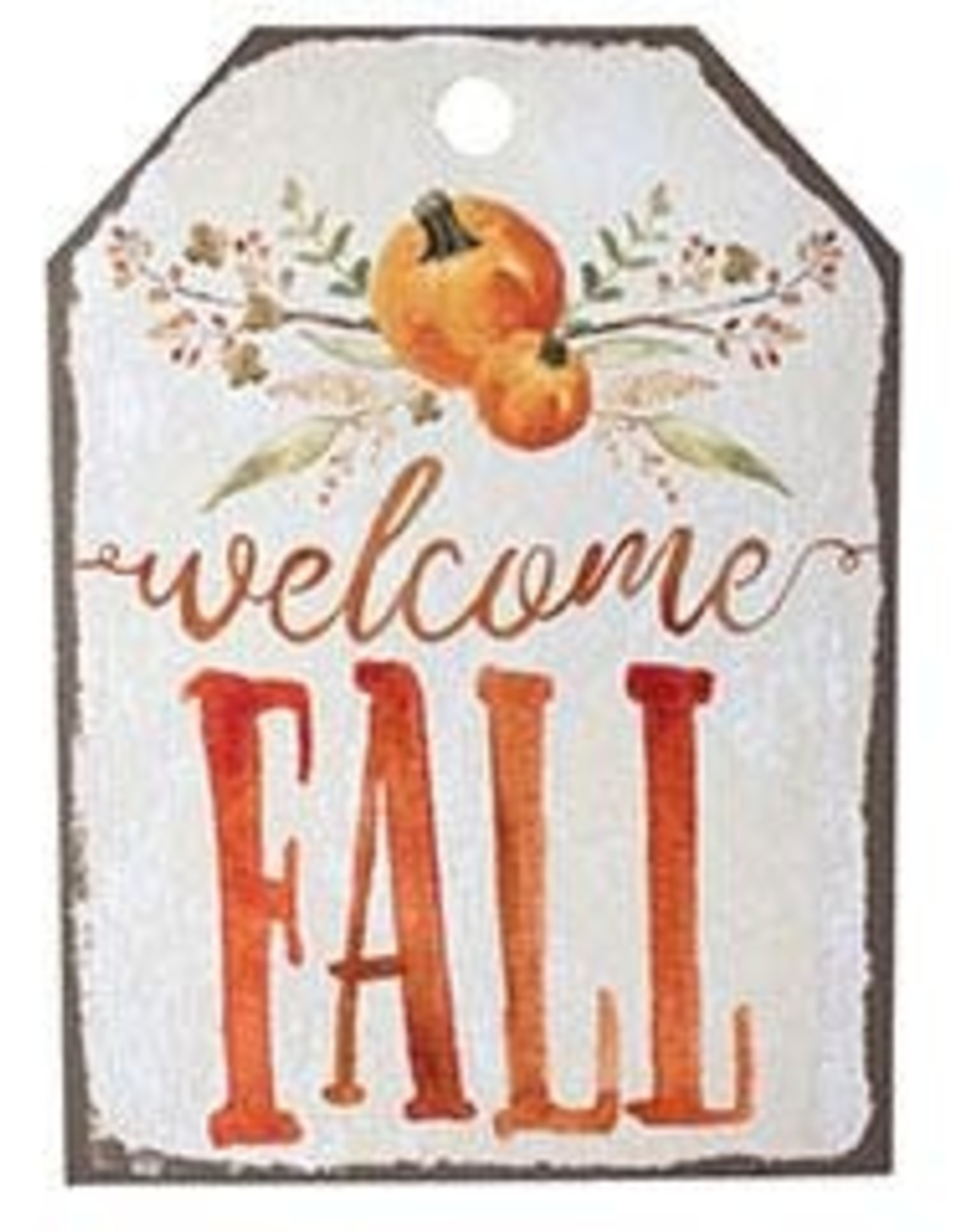 Wink Wall Hanging Welcome Fall Tag
